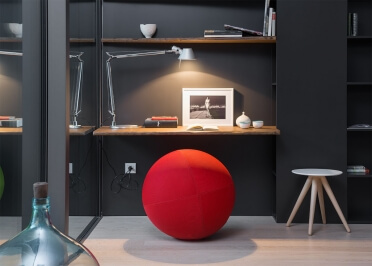 POUF BALLON ORIGINAL ET CONFORTABLE - POLYESTER 32 COULEURS - DEHOUSSABLE ET LAVABLE - BALL SINGLE PAR LINA FURNITURE