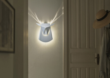 APPLIQUE MURALE DESIGN EN FORME DE TETE DE CERF DEER HEAD PAR POPUP LIGHTING