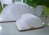 LAMPE DESIGN ORIGINALE ET NOMADE EN FORME DE LIVRE NOYER OU ERABLE BOOK LIGHT PAR GINGKO Gingko