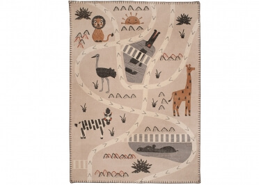 TAPIS ENFANT MOTIF ANIMAUX DE LA SAVANE LITTLE SAVANNAH PAR NATTIOT