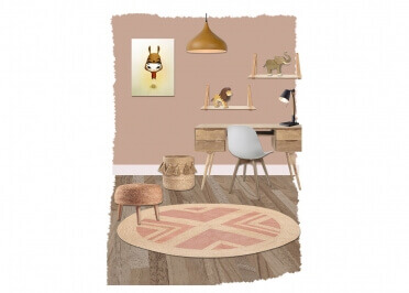 TAPIS DECORATIF ROND EN CHANVRE ET LUREX IDRIS PAR NATTIOT