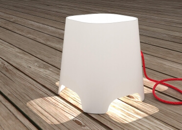 LAMPE DE TABLE OU CHEVET EN CERAMIQUE BLANCHE GHOST PAR NEXEL