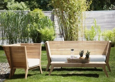 FAUTEUIL DE JARDIN EN TECK MASSIF OUTDOOR INDOOR - WILLIAM PAR JANKURTZ