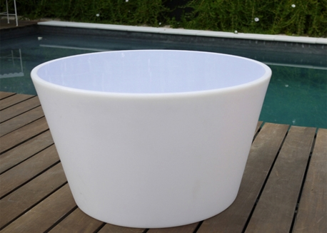 TABLE BASSE LUMINEUSE NOMADE OU FILAIRE - ISLOON TABLE PAR LINK