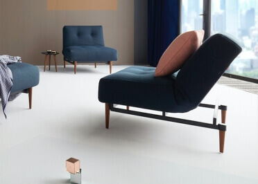 FAUTEUIL DESIGN 3 POSITIONS DROIT RELAX OU BANC TAUPE OU BLEU AMPLE - INNOVATION LIVING