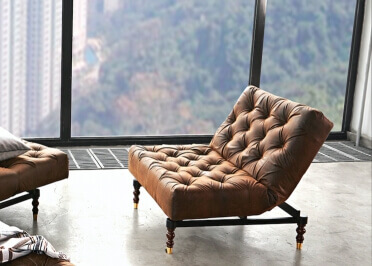 FAUTEUIL CONVERTIBLE DESIGN VINTAGE CHESTERFIELD SIMILI CUIR MARRON OLDSCHOOL PAR INNOVATION LIVING