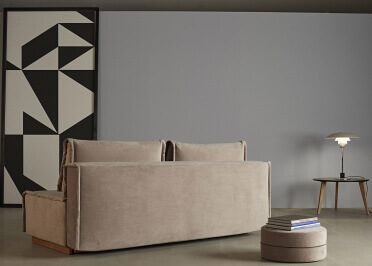 MERIDIENNE CONVERTIBLE EN LIT 100x200 DE QUALITE BLEU OU GRIS ALL YOU NEED PAR INNOVATION LIVING