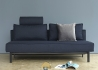 CANAPE DESIGN CONVERTIBLE EN LIT 2 PLACES KAKI GRIS OU BLEU SLY PAR INNOVATION LIVING