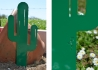 CACTUS DECORATIF A PLANTER EN METAL VERT OU ROUILLE MR PIQUE PAR IDFER