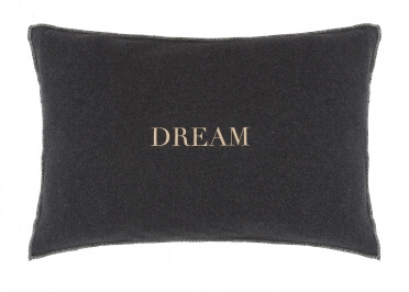 COUSSIN FANTAISIE EN COTON EFFET SWEAT INSCRIPTION DREAM - SET DE 2 UNITES - HOUSE IN STYLE