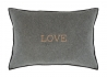 COUSSIN GRIS CLAIR OU ANTHRACITE INSCRIPTION LOVE - SET DE 2 UNITES - HOUSE IN STYLE House in Style