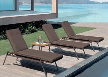 TRANSAT OU CHAISE LONGUE DESIGN 4 COULEURS - COTTAGE PAR TALENTI
