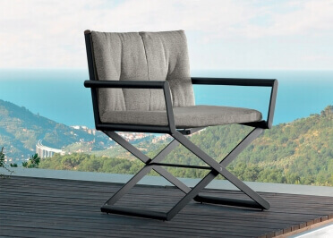 FAUTEUIL DE TABLE CINEMA GRIS OU BEIGE - DOMINO PAR TALENTI