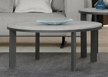 TABLE BASSE DESIGN DIAM 90 CM EN GRES OU CIMENT - EDEN PAR TALENTI
