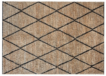 TAPIS EN CHANVRE NATUREL ET LAINE ECRU OU CHARBON LARSON - THE RUG REPUBLIC