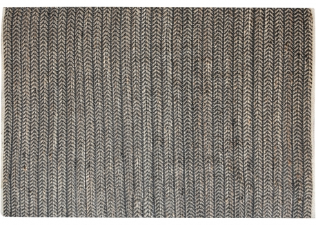 TAPIS BEIGE NOIR EN CHANVRE ET LAINE TULIA - THE RUG REPUBLIC