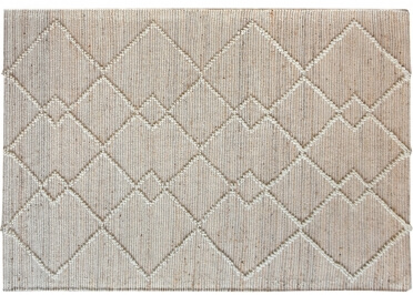 TAPIS BEIGE ECRU EN CHANVRE ET LAINE WAMYS - THE RUG REPUBLIC