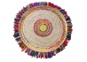 TAPIS ROND EN CHANVRE ET COTON RECYCLE MULTICOLORE BALLAS - THE RUG REPUBLIC