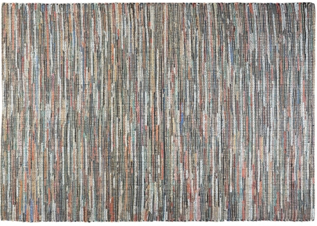 TAPIS EN CHANVRE ET CUIR PANACHE DE TONS BRUNS SPICA - THE RUG REPUBLIC