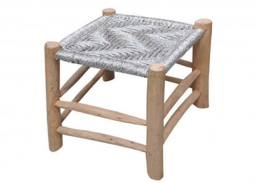 TABOURET TENDANCE ARGENT OU MULTICOLORE SAHARA - THE RUG REPUBLIC