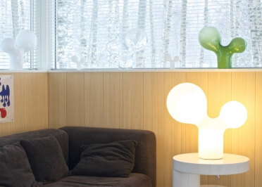 LAMPE A POSER DOUBLE BUBBLE M