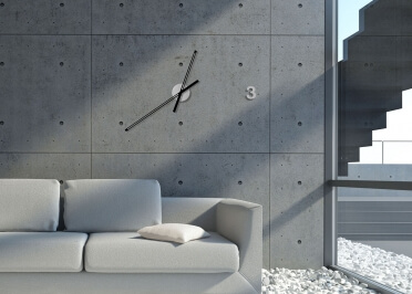 HORLOGE MURALE DESIGN - COLORIS VARIES - BARCELONA PAR TOTHORA