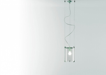 SUSPENSION DESIGN EN VERRE BLANC OU TRANSPARENT DIAM 24 - CPL S1 - PRANDINA