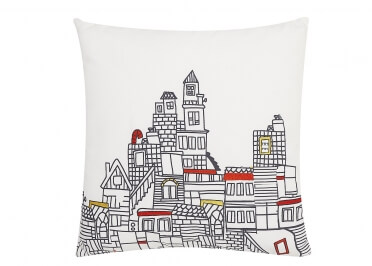 SET DE 2 COUSSINS COLLECTION CITY NOIR ET BLANC 45x45  PAR ARATEXTIL