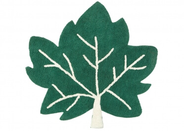 TAPIS ORIGINAL EN FORME DE FEUILLE VERTE - LITTLE FALL PAR NATTIOT