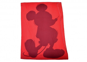 PLAID MICKEY BEIGE ROUGE OU GRIS SOFT MOUSE PAR ZOEPPRITZ