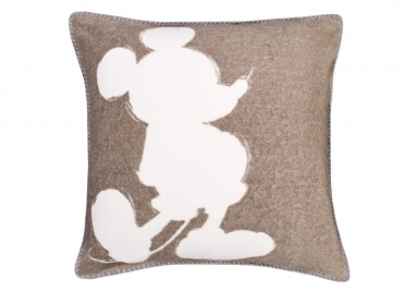 SET DE 2 COUSSINS BEIGE ROUGE OU GRIS MICKEY SOFT MOUSE PAR ZOEPPRITZ