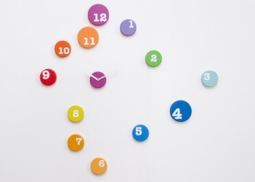 HORLOGE DESIGN MULTICOLORE FUN TIME