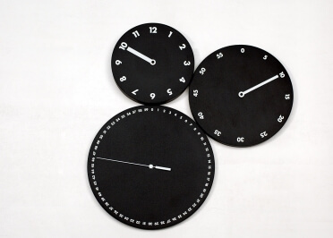 HORLOGE CONTEMPORAINE H:M:S