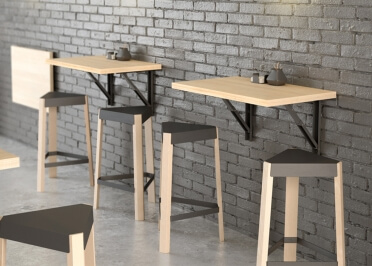 Table Murale Pliable Pour Gain De Place Studio Kitchenette