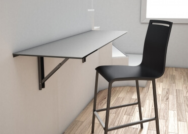 TABLE MURALE PLIABLE OU BUREAU RABATTABLE EN CERAMIQUE 8 COLORIS ET 5 DIMENSIONS VULCANO PAR CANCIO