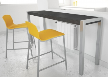 TABLE DE BAR OU CONSOLE DESIGN H 90 OU 105 EN METAL ET CERAMIQUE 7 COULEURS - CUMBRE PAR CANCIO