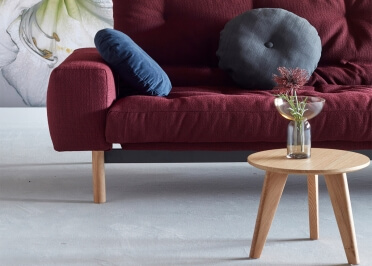 TABLE BASSE GIGOGNE DESIGN SCANDINAVE Ø35 Ø45 ET Ø70 EN CHENE OU CHENE-NOIR NORDIC PAR INNOVATION LIVING