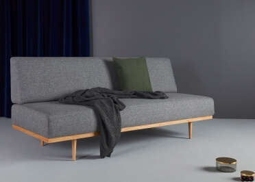 CANAPE SOFA CONVERTIBLE EN LIT 90x200 A USAGE QUOTIDIEN IDEAL STUDIO VANADIS PAR INNOVATION LIVING
