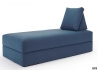 MERIDIENNE CONVERTIBLE EN LIT 100*200 DE QUALITE BLEU OU GRIS ALL YOU NEED PAR INNOVATION LIVING