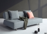 CANAPE CONVERTIBLE GRIS SANS ACCOUDOIRS DESIGN SCANDINAVE LONG HORN PAR INNOVATION LIVING Innovation Living