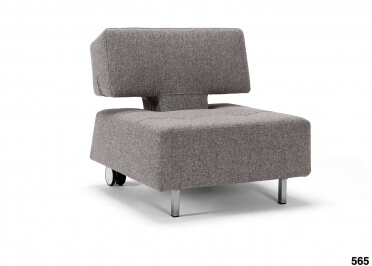 FAUTEUIL GRIS ORIGINAL ET DESIGN CONVERTIBLE LONG HORN PAR INNOVATION LIVING