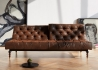 CANAPE LIT DESIGN VINTAGE CHESTERFIELD SIMILI CUIR MARRON OLDSCHOOL PAR INNOVATION LIVING Innovation Living