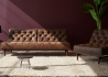 CANAPE LIT DESIGN VINTAGE CHESTERFIELD SIMILI CUIR MARRON OLDSCHOOL PAR INNOVATION LIVING