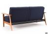 CANAPE CONVERTIBLE BLEU ET ACCOUDOIRS CHENE AMPLE FREJ - INNOVATION LIVING Innovation Living Danemark