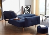 CANAPE LIT AVEC ACCOUDOIRS BLEU DESIGN SCANDINAVE AMPLE ARMS INNOVATION LIVING