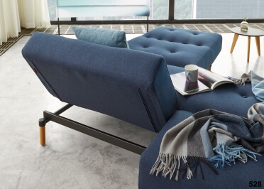 CANAPE CONVERTIBLE EN LIT OU MÉRIDIENNE BLEU OU TAUPE AMPLE - INNOVATION LIVING