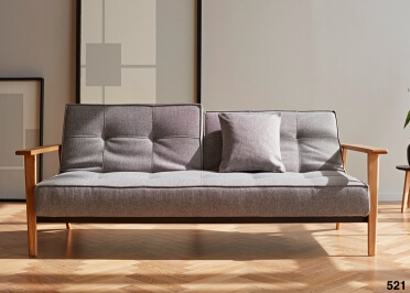CANAPE LIT DESIGN SCANDINAVE AVEC ACCOUDOIRS ET PIETEMENT CHENE SPLITBACK FREJ PAR INNOVATION LIVING
