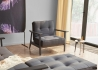 FAUTEUIL LIT DESIGN SCANDINAVE AVEC ACCOUDOIRS ET PIETEMENT CHENE SPLITBACK FREJ PAR INNOVATION LIVING Innovation Living