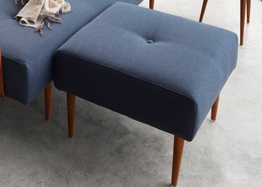 POUF OU REPOSE PIED DESIGN BLEU VERT OU GRIS RECAST PLUS PAR INNOVATION LIVING