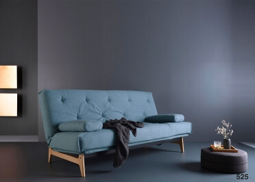 CANAPE CONVERTIBLE DESIGN SCANDINAVE PIETEMENT CHENE - 34 COULEURS AU CHOIX - ASLAK PAR INNOVATION LIVING
